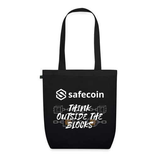 Safecoin Think Outside the Blocks (white) - EarthPositive Tote Bag