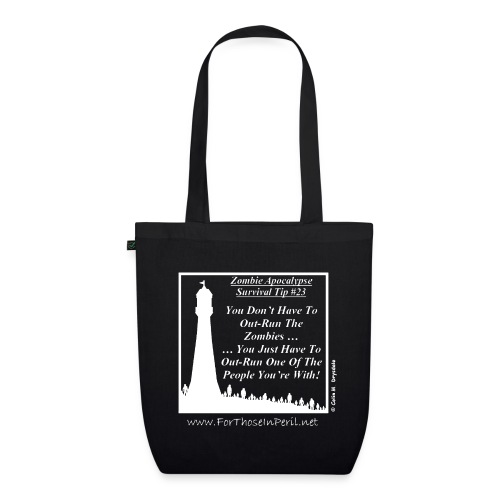 Zombie Survival Tip (W) - EarthPositive Tote Bag