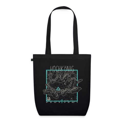 Hochkoenig Contour Lines - Square - EarthPositive Tote Bag