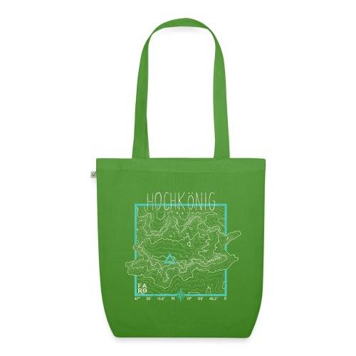 Hochkoenig Contour Lines - Square - EarthPositive Tote Bag