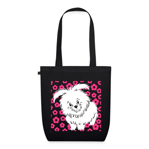 Cute White Dog - EarthPositive Tote Bag