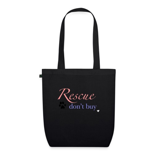 Rescue don't buy - EarthPositive Tote Bag