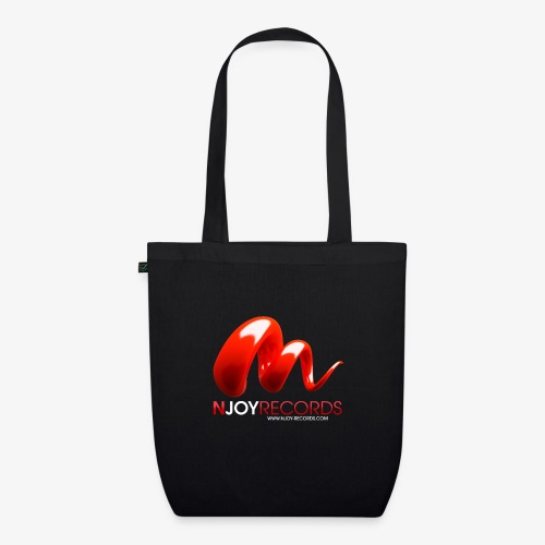 Logo Njoy Records Blanc - Sac en tissu biologique