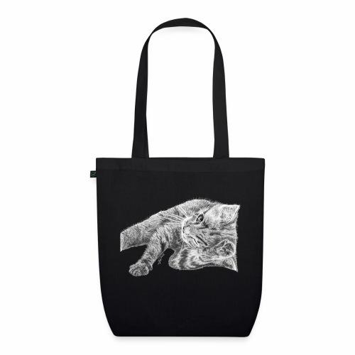 Petit chaton au crayon gris - Sac en tissu biologique