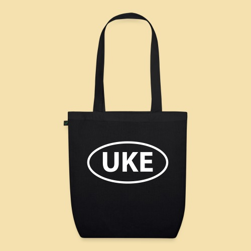 Schwarz UKE Lankennzeichen T-Shirts - Bio-Stoffbeutel