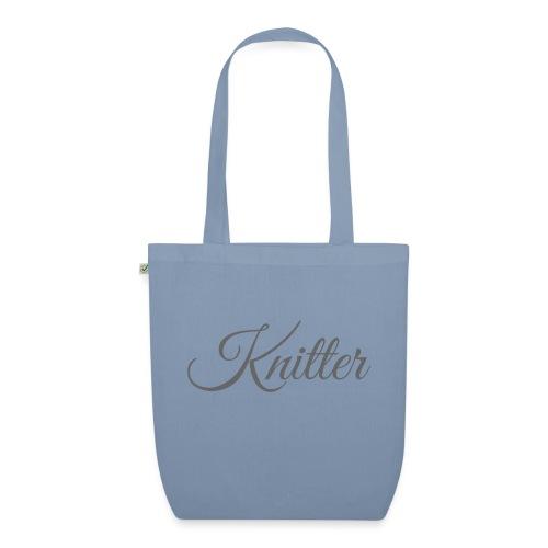 Knitter, dark gray - EarthPositive Tote Bag