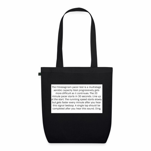 FitnessGram pacer Test - EarthPositive Tote Bag