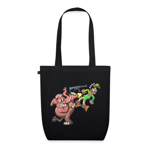 Hunter's Teeth instead of Elephant's Tusks - EarthPositive Tote Bag
