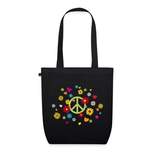 Peacezeichen Blumen Herz flower power Valentinstag - EarthPositive Tote Bag