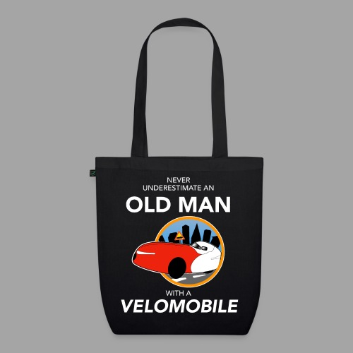 Never underestimate an old man with a velomobile - Luomu-kangaskassi