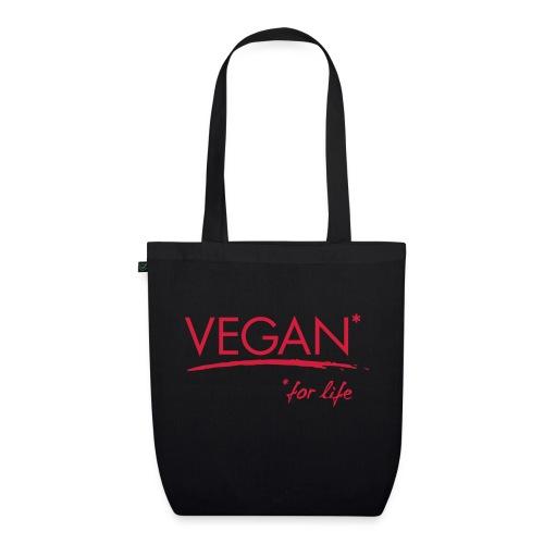 vegan for life 1c - Bio-Stoffbeutel