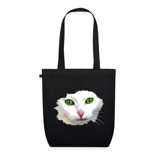 White Cat / weiße Katze - Bio-Stoffbeutel