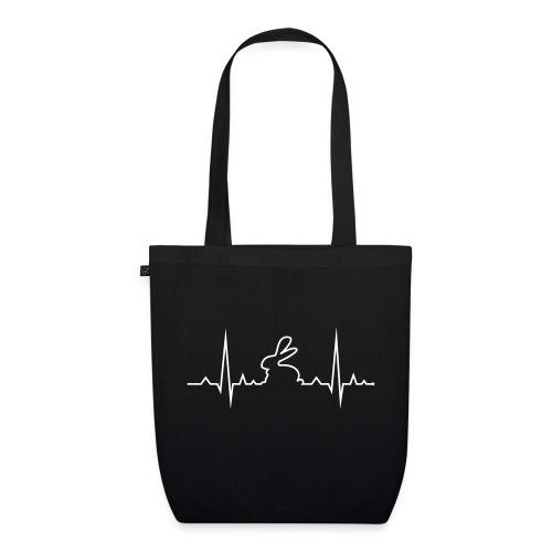 EKG Herzschlag Hase Kaninchen Zwergkaninchen - Bio-Stoffbeutel