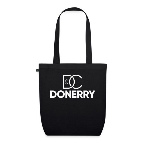 DONERRY New White Logo on Dark - EarthPositive Tote Bag