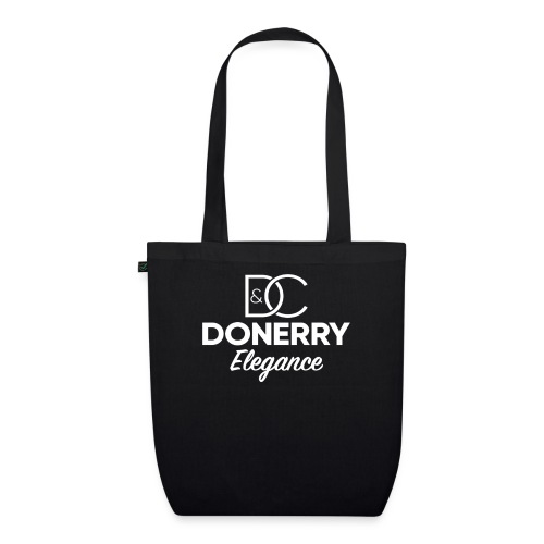 Donerry Elegance NEW White on Dark - EarthPositive Tote Bag