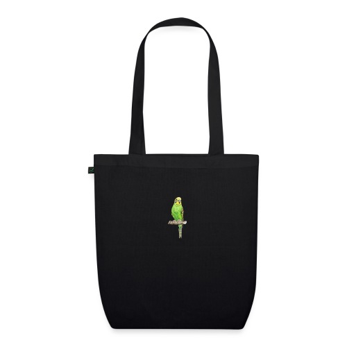 Green bird amazon perico - Bolsa de tela ecológica