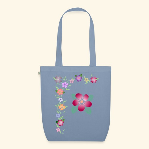Blumenranke, Blumen, Blüten, floral, blumig, bunt - Bio-Stoffbeutel