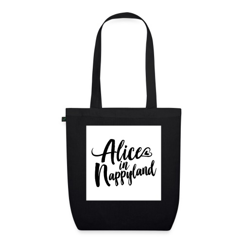Alice in Nappyland Typography Black 1080 1 - EarthPositive Tote Bag