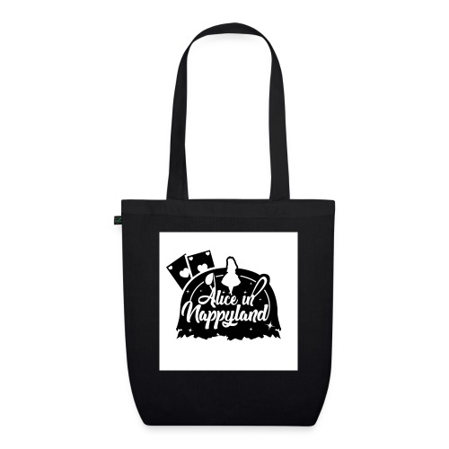 Alice in Nappyland TypographyWhite with background - EarthPositive Tote Bag