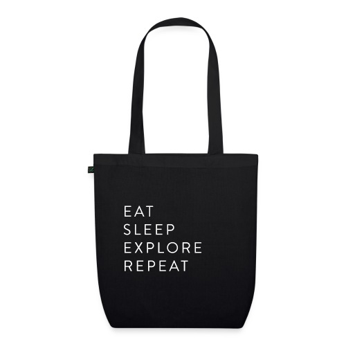 Eat sleep explore repeat - EarthPositive Tote Bag