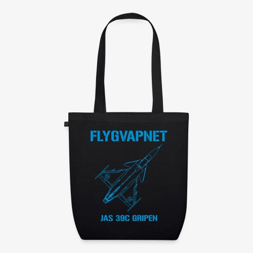 FLYGVAPNET - JAS 39C - Ekologisk tygväska