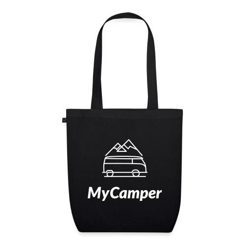 MyCamper Logo Weiss - Bio-Stoffbeutel