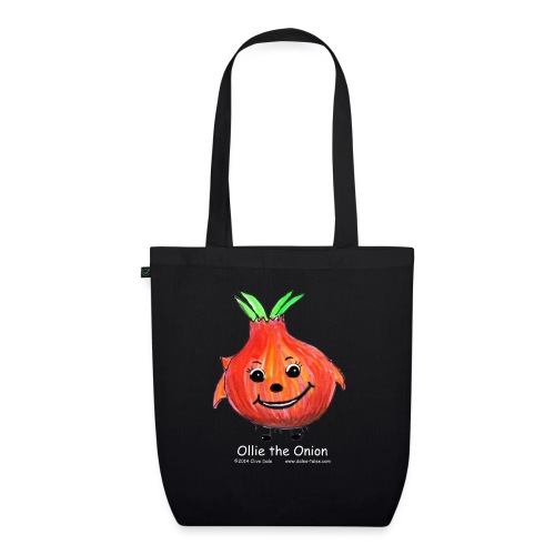 mens black T-shirt Ollie the Onion - EarthPositive Tote Bag