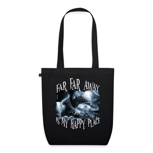 My Happy Place - Black & White - Bio stoffen tas