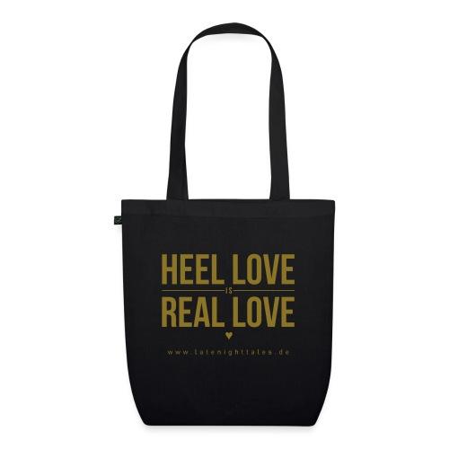 Heel Love is Real Love <3 - GOLD - Bio-Stoffbeutel