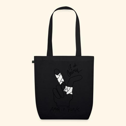 Amor y Punk II Black - Bolsa de tela ecológica