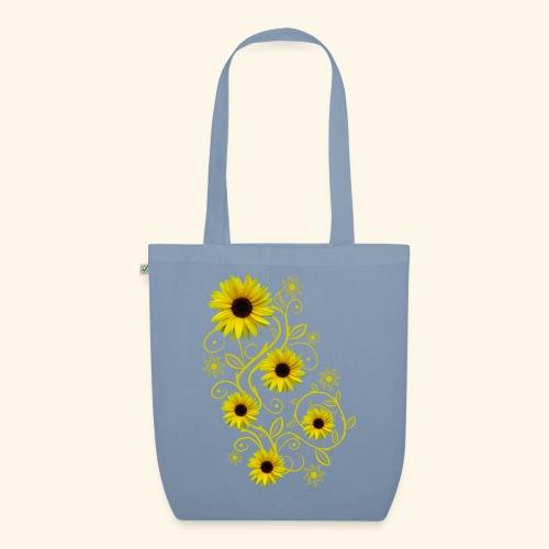 gelbe Sonnenblumen, Ornamente, Sonnenblume, Blumen - Bio-Stoffbeutel