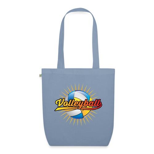 Volleyball Sonne Logo cooler Sport Geschenke - Bio-Stoffbeutel
