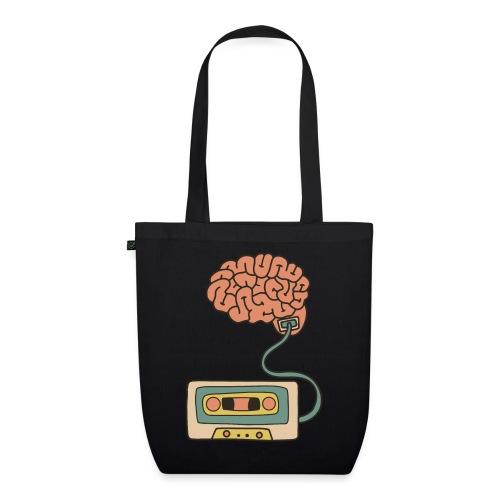 Musikkassette am Gehirn - Bio-Stoffbeutel