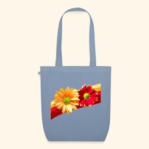 Blumen in den Farben rot und gelb, Blüten, floral - Bio-Stoffbeutel