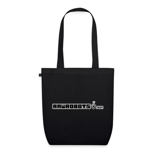 Logo RawRobots (Black Long) - Øko-stoftaske