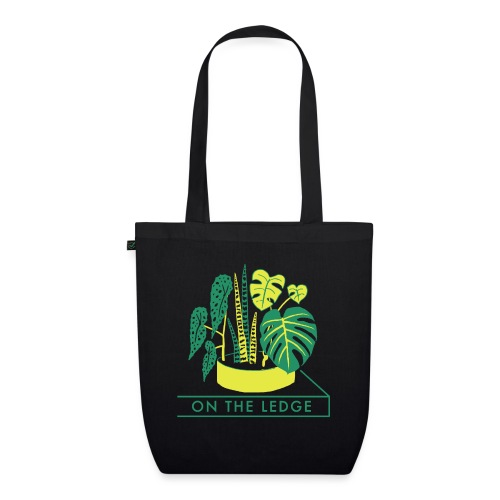 On The Ledge green logo print - EarthPositive Tote Bag