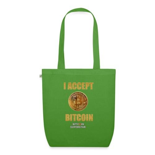 I accept bitcoin - Borsa ecologica in tessuto
