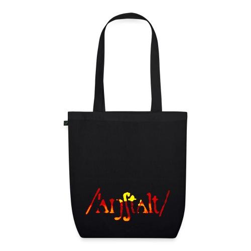 /'angstalt/ logo gerastert (flamme) - Bio-Stoffbeutel