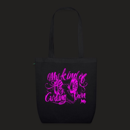 CURLING PURPLE.png - EarthPositive Tote Bag