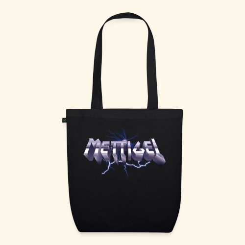 Mettigel T Shirt Design Heavy Metal Schriftzug - Bio-Stoffbeutel