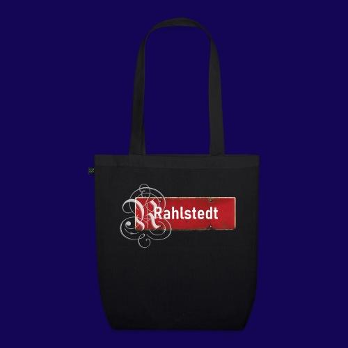(Hamburg-) Rahlstedt Ortsschild + pompösem Initial - Bio-Stoffbeutel