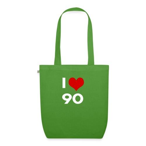 I love 90 - Borsa ecologica in tessuto