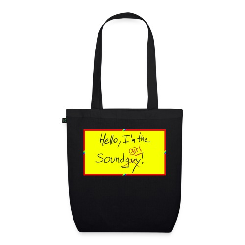hello, I am the sound girl - yellow sign - EarthPositive Tote Bag