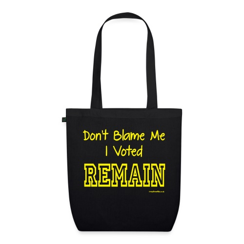 Dont Blame Me - EarthPositive Tote Bag