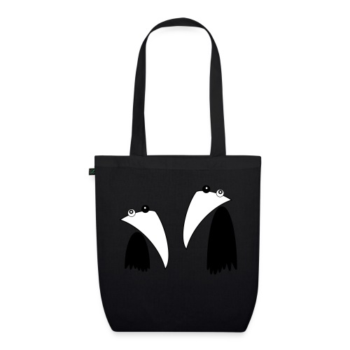 Raving Ravens - black and white 1 - EarthPositive Tote Bag