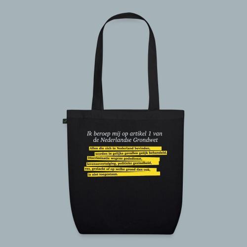 Nederlandse Grondwet T-Shirt - Artikel 1 - Bio stoffen tas