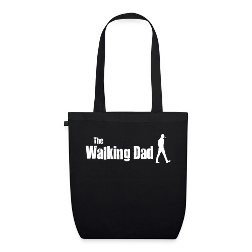 the walking dad white text on black - EarthPositive Tote Bag