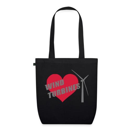 wind turbine grey - EarthPositive Tote Bag