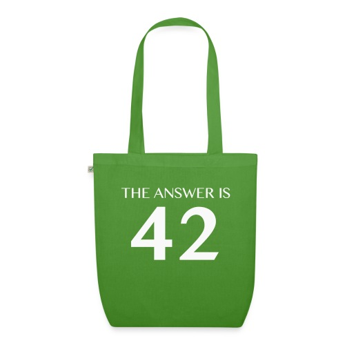 The Answer is 42 White - EarthPositive Tote Bag
