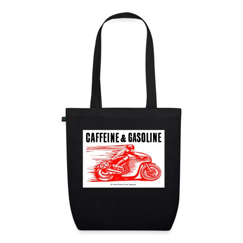 Caffeine & Gasoline black text - EarthPositive Tote Bag